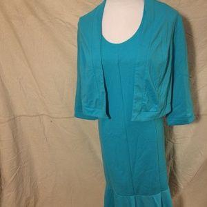 Jessica London sleeveless dress with Bolero jacket